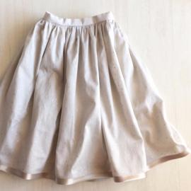 子どものスカートにバイアステープを付けました。